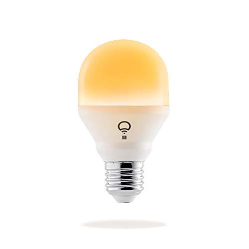 LIFX Mini Day & Dusk (E27) Lampadina a LED Wi-Fi Smart, regolabile, multicolor, dimmerabile, non richiede un hub, funziona con Alexa, Apple HomeKit e Google Assistant