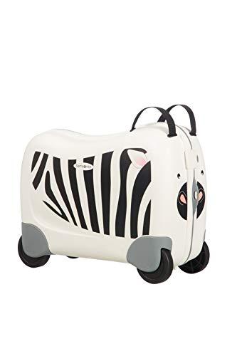 Samsonite Dream Rider - Valigia per Bambini, 51 cm, 28 L, Bianca (Zebra Zeno)