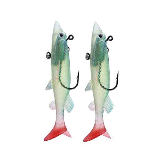 LIOOBO 26g / 12cm Simulazione Pesca Grub Esche da Pesca Esche per la Pesca 2pcs