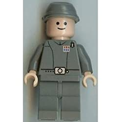 LEGO Star Wars Minifigur - Imperial Officer im neuen dunkelgrauen Farbton mit fleischfarbenem Kopf aus dem Set 7264.