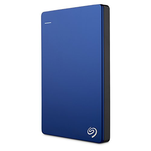 Seagate Backup Plus Slim 1TB Portable External Hard Drive (Blue)