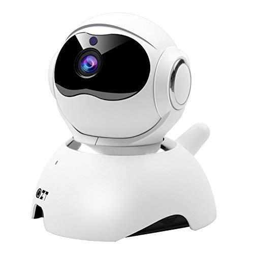 Telecamera Wi-fi Interno, Telecamera Sorveglianza WiFi 2MP HD con Visione Notturna Audio Bidirezionale Motion Detection, Videocamera IP Casa per Bambini Cani