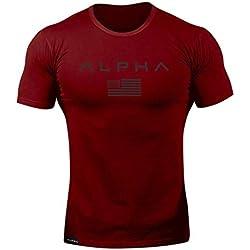 Cocoty-Store 2019 Camiseta Clásica Cuello Redondo para Hombre, Camisetas Hombre Manga Corta,Tallas Extra Grande (Rojo,L)