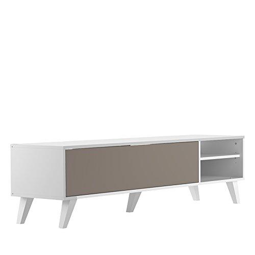Symbiosis River C, Mobile TV, Bianco (Bianco/Tortora), 43.2 x 165 x 40 cm