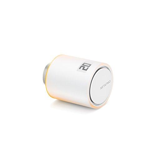 Netatmo Tête Thermostatique Connectée et « Intelligente »  « accessoire » pour le Thermostat Intelligent et pour le Pack pour chauffage collectif, NAV -FR