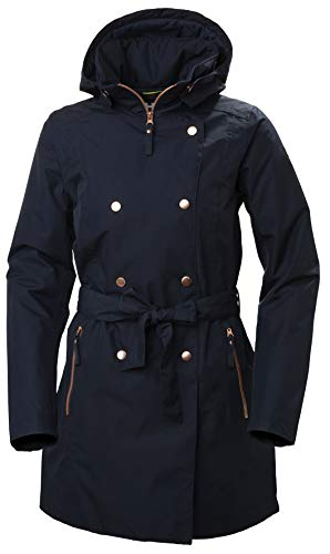 Helly Hansen Welsey II Isolato Impermeabile Trench, Giacca Invernale Donna, Navy, L