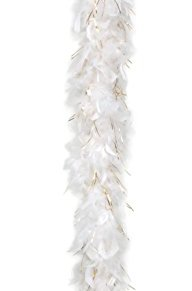 White and golden boa (accesorio de disfraz)
