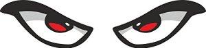 2x Evil Augen Auto Motorrad Helm van Aufkleber 1Paar 9cm 7