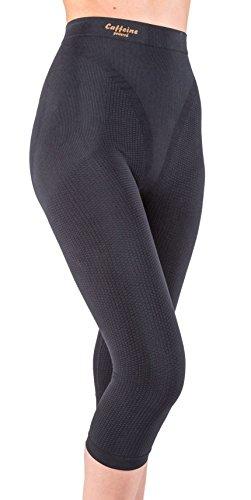 Pantaloncino midi (Capri) snellente, anti-cellulite con caffeina+vitamina E Nero Tg. XXL