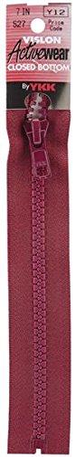 American & Efird 18 7-527 YKK Vislon Closed Bottom Zipper, 7-Inch, Cherry
