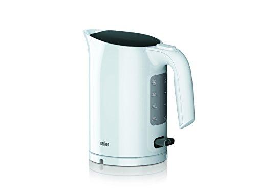 Braun WK 3000 WH Wasserkocher | Füllmenge 1,0 l | 2.200 Watt | Schnellkochsystem | Herausnehmbarer Anti-Kalk-Filter | Große Wasserstandsanzeige | BPA Frei | Weiß