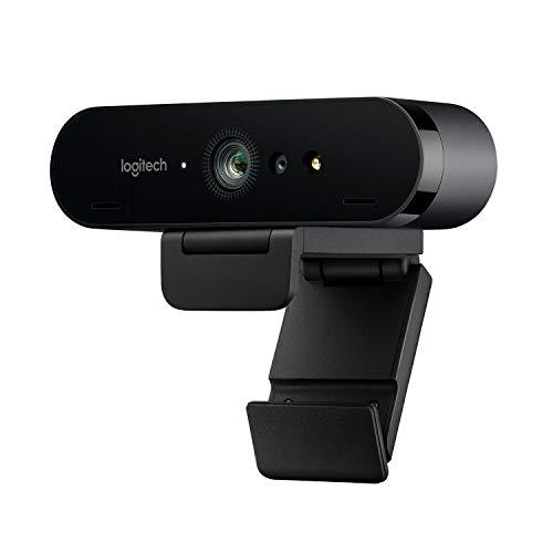 Logitech BRIO Webcam Ultra HD 4K per Streaming, Videoconferenze e Registrazione per Windows e Mac,...