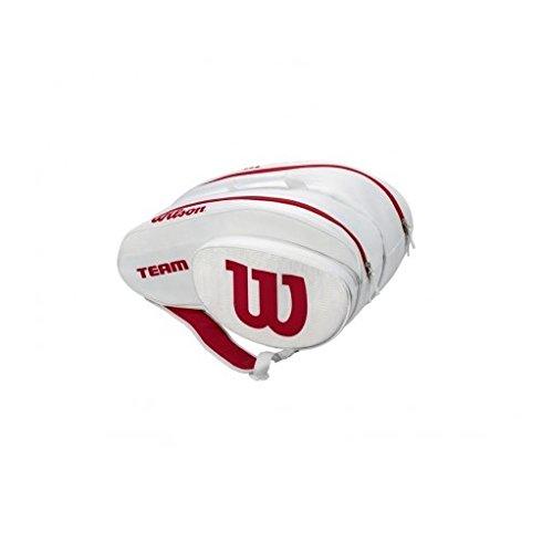 Wilson Bag portaracchette da Padel, Unisex Adulto, Unisex Adulto, WRZ608000, Bianco/Rosso, Taglia...