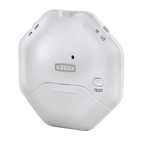 Xavax Glasbruchmelder Alarmanlage für Fenster oder Glastüren (Mit Erschütterungssensor, Flaches Design, Ideal für Schiebetüren)