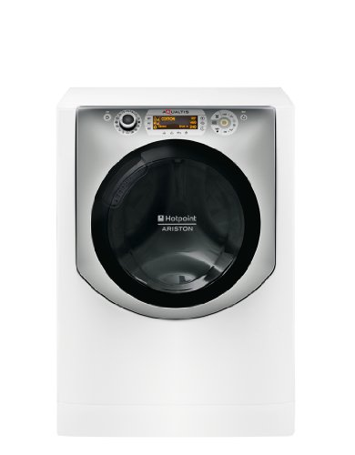 Hotpoint AQS73D 29 EU/A Lavatrice (Carico frontale, 7kg, 1200RPM, A+++, LCD), Argento, Bianco
