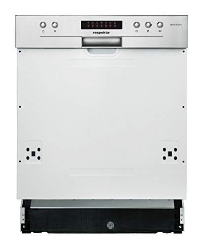 respekta Einbau Geschirrspüler Spülmaschine 60 cm teilintegriert LED-Display EEKL A++ inkl. Aquastop
