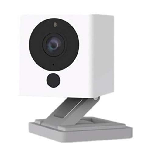 Kinshops Smart Camera 1s Fotografia Time-Lapse HD Telecamera di sorveglianza Famiglia Domestica Telecamera per Visione Notturna , Bianca