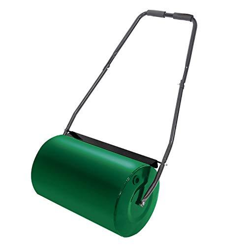 HENGMEI Rodillo de Césped rodillo de jardín Llena de Agua Medida de Rodillo, 46 L Volumen de Relleno, Verde