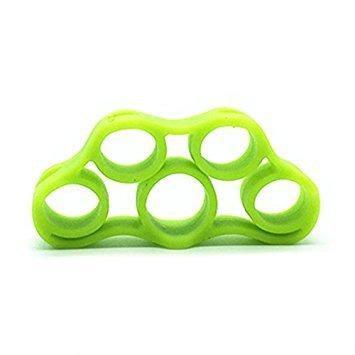 1pcs mano fuerza agarre dedo Stretcher - Entrenador de fuerza para agarre de golf, dedo de guitarra, ejercicio de antebrazo, ciclismo, escalada, verde