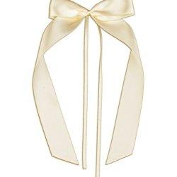 floristikvergleich.de 10 Antennenschleifen, Deko Schleifen, Hochzeit, Autoschmuck, Autoschleifen, Beige