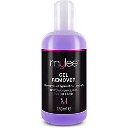 Mylee Gel Polish Remover 250ml, Solvente per Unghie Professionale, UV / LED. Acetone per manicure e pedicure