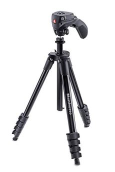 Manfrotto Compact Action - Trípode completo, negro