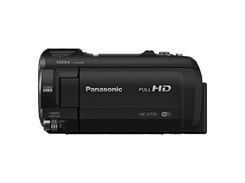 Panasonic HC-V770 Full HD Camcorder with 20X Optical Zoom, 1/2.3-inch BSI Sensor, HDR Capture, WiFi Smartphone Twin Video Capture(USA Black)
