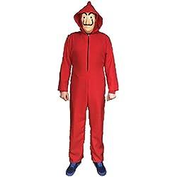 Disfraz inspirado en una famosa serie de televisión. No es el ORIGINAL. Disfraz compuesto de Mono rojo y Máscara. (L - 52)