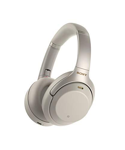 Sony WH-1000XM3S - Auriculares de Diadema inalámbricos (Bluetooth, Hi-Res Audio, Noise Cancelling, Sense Engine, Asistente de Voz, 30h de autonomía de batería) Color Plata