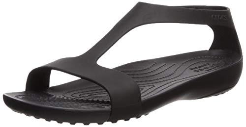 Crocs W Serena Sandals 205469-060, Infradito Donna, Nero Noire 060, 36/37 EU