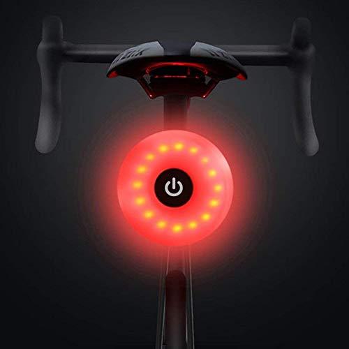 WASAGA Luce Posteriore per Bicicletta, LED USB Ricaricabile Impermeabile Avvertimento 5 modalità...