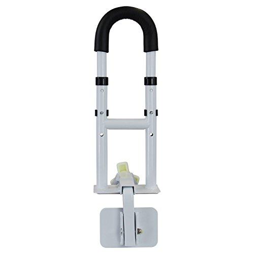 1PLUS Health Premium Aluminium Badewannen-Einstiegshilfe, bis 130 kg belastbar, individuell anpassbar, weiß