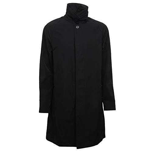 Burberry F8286 Trench Uomo Hampstead Black Rainwear Jacket Man [50]