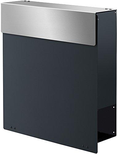 Frabox Design Briefkasten NAMUR Anthrazitgrau / Edelstahl