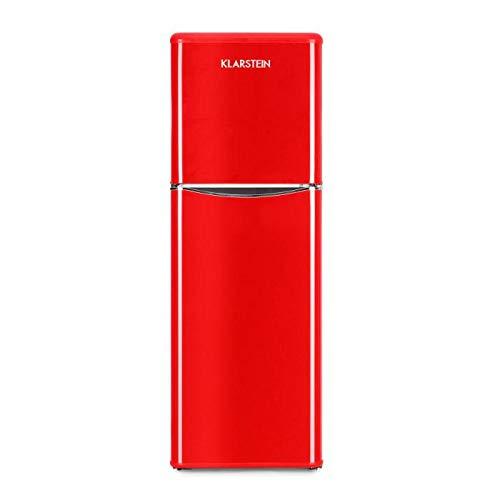 Klarstein Monroe XL Red • V-2 • Combinazione Frigo-Congelatore • Frigorifero Combinato • 70...