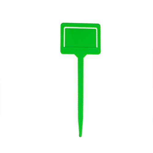 Etiqueta que cultiva un huerto, etiqueta plástica en forma de T de la etiqueta del cuarto de niños de la flor de la planta de jardín para el jardín (GN)
