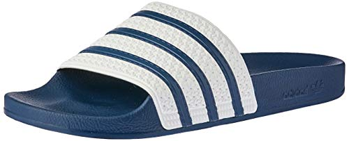 adidas ADILETTE Ciabatte Unisex - Adulto, Blu (Adiblue G1/White/Adiblue G1), 40.5 EU