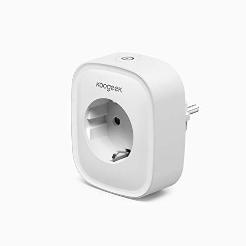 Smart Plug Koogeek Prise murale intelligente Alexa WiFi compatible avec Amazon Alexa [Echo, Echo Dot] et Google Home, avec application de contrôle partout et à tout moment 10A-2300W