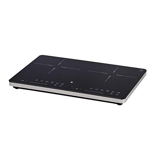 WMF Kult X Doppel- Induktionskochfeld (3500 W, bis zu 28 cm, 2 Kochzonen, 8 Leistungsstufen, Topferkennung, Touch-Display, Glaskeramik, Timer-Funktion)