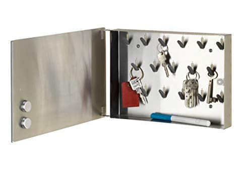 Wenko Magnet. Cassetta portachiavi 30x 20cm Specchio, Vetro temperato, Trasparente, 5x 30x...
