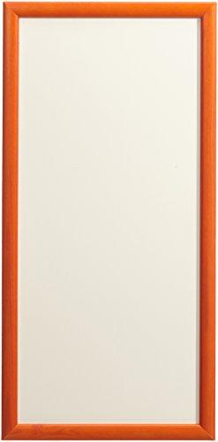 KalaMitica Lavagna Metallica per Magneti, 23x55 cm con Cornice in Legno, Bianco/Arancione