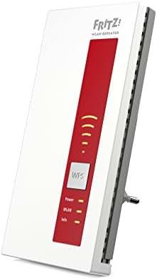 AVM FRITZ!WLAN Repeater 1160 (Dual-WLAN AC + N bis zu 866 MBit/s 5 GHz + 300 MBit/s 2,4 GHz), Rot/Weiß, deutschsprachige Version