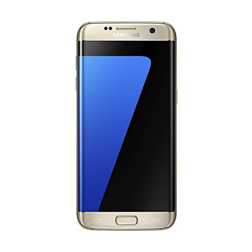"Samsung Galaxy S7 Edge, Smartphone libre de 5.5"" QHD (4 G, Bluetooth, Octa-Core de 2.3 GHz, 32 GB memoria interna, 4 GB RAM, pantalla dual Edge Super Amoled, cámara de 12 MP, Android 6.0, Versión española), color Dorado"
