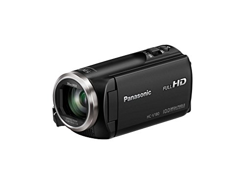 Panasonic HC-V180K Full HD Camcorder with Stabilized Optical Zoom with 16GB Memory Card
