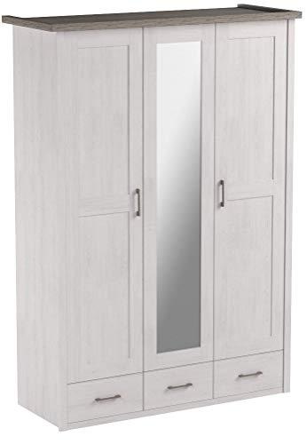 AVANTI TRENDSTORE - Armadio in imitazione di pino bianco , ca. 142x200x55cm