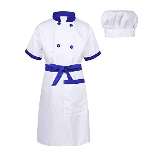 CHICTRY-Jungen-Mdchen-Chef-Kostm-Bekleidung-Set-Kochjacke-Kchenschrze-Kochmtze-Outfits-Kinder-Karneval-Fasching-Party-Kostm-Cosplay-4-14-Jahre
