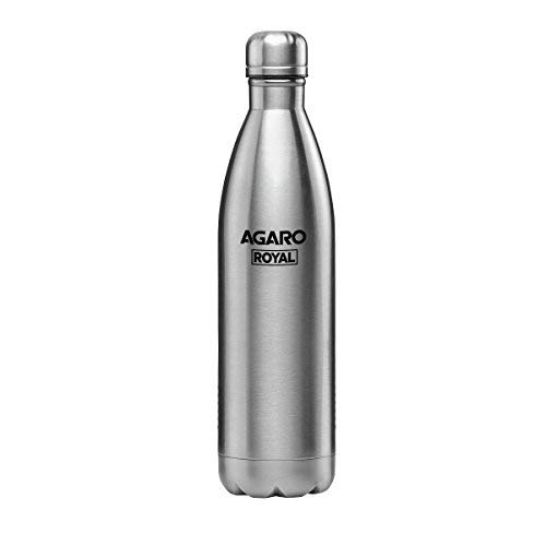 AGARO Royal Stainless Thermo-Steel, Hot & Cold Vacuum Flask 1000ML (Grey)