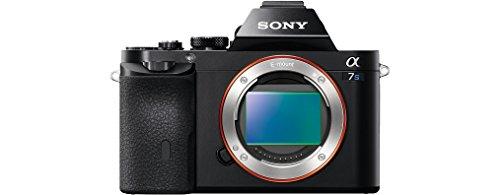 Sony Alpha ILCE-7S - Cámara EVIL (sensor Full Frame 35 mm, 12.1 Mp, ISO 409600, procesado en 16 bits, visor OLED, vídeo Full HD, Wi-Fi y NFC, sólo cuerpo) color negro