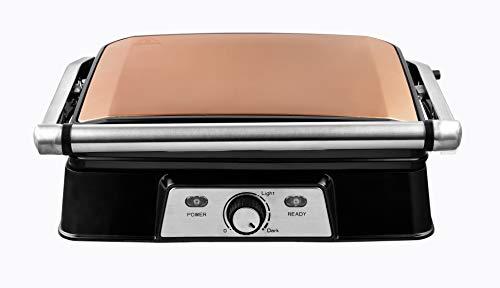 Venga! VG COG 3050, piastra tostapane, potenza 2000 W, acciaio inossidabile, plastica, alluminio...