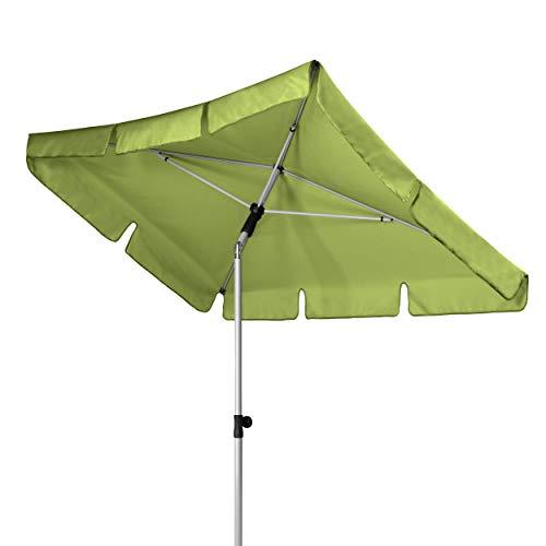 Doppler Active - Rechteckiger Sonnenschirm für Balkon und Terrasse - Knickbar - 180x120 cm - Fresh Green
